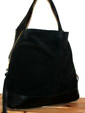 River Island Leather Black Slouchy Bucket Shoulder Bag/Tote/Purse