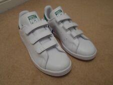 NEW adidas Originals Stan Smith White Green VELCRO Sneakers S75187 UK 9.5  EU 44