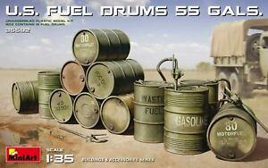 Miniart 1:35 scale model kit US Fuel Drums (55 Gals)  MIN35592