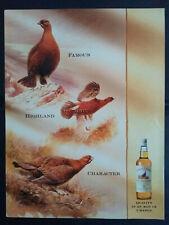 The Famous Grouse - Finest Scotch Whisky - 1990's Magazine Advert #B5631
