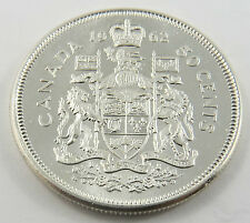 PH-42 CANADA 1962 50 CENTS .800 SILVER QUEEN ELIZABETH II COIN.SEE PICTURES