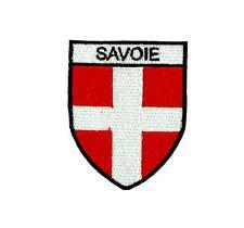 Flag patch shield souvenir iron / sew badge backpack ski savoie savoy france
