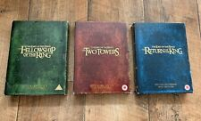 The Lord Of The Rings Trilogy 4-Disc DVD Extended Edition Three Boxsets Complete
