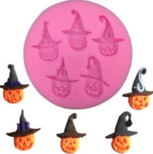 PUMPKINS SILICONE MOULD/ WITCHES HAT/HALLOWEEN MOLD-CHOCOLATE-RESIN-CAKE-ICING