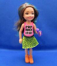 Barbie~Chelsea~Pop Rock Hip-Hop~Brown Hair with Blue Streaks~No Box