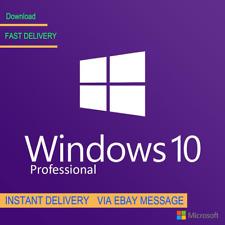 WINDOWS 10 PRO 32 / 64BIT PROFESSIONAL LICENSE KEY ORIGINAL CODE SCRAP PC