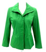 Lafayette 148 New York Women's Green Blazer Cotton Blend Size 4 Three Buttons