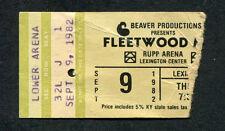 Original 1982 Fleetwood Mac concert ticket stub Mirage Tour Stevie Nicks McVie