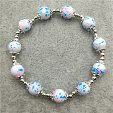 NEW DIY wholesale fashion lucky 8 mm pearl beads elastic bracelet