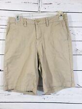 White Stag Womens Shorts Sz 6 Khaki Trouser Classic Long Length Bermuda Tan