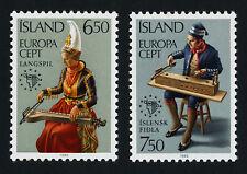 Iceland 606-7 MNH EUROPA, Music
