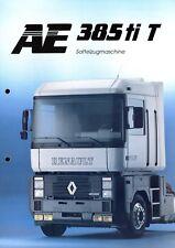 Renault AE 385 ti T Sattelzugmaschine Prospekt 1992 3/92 brochure tractor camion