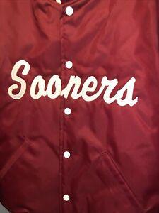 Vintage Howe Athletic Apparel Red Satin Varsity Jacket Sz M Oklahoma Sooners