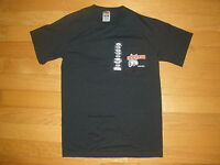 NEW MEN'S BLACK SHORT SLEEVE STRETCHY T-SHIRT WITH POCKET CHICAGO SIZES S,M,L,XL