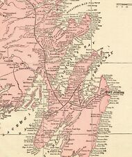 1901 Antique Newfoundland Map of Newfoundland Canada Gallery Wall Art 6101