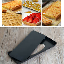 Rectangle Fluted Pie Tart Pan Removable Bottom Nonstick Mold Baking Easy Clean