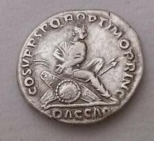 Trajan Roman AR Denarius Coin Dacian Captive Very Fine 3.1g