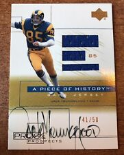 Jack Youngblood Upper Deck Pros & Prospects A Piece of History Jersey Auto /50