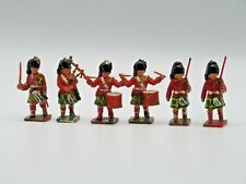 Lone Star Harvey Great Britain VTG Plastic Toy Soldiers Scottish Bagpipe Drums 6