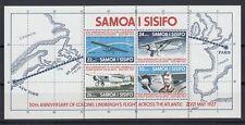 Samoa 1977 ** bl.13 aviones Aircraft Aviation aviación lindbergh [sq4376]