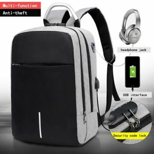 Men Anti Theft Backpack Multifunction Laptop Usb Charging Backpacks Waterproof