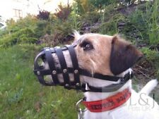 Leather Dog Muzzle for Jack Russell and other similar dog's