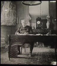 Glass Magic Lantern Slide FRENCH MARSHALL JOSPEH JOFFRE SEATED WW1 PHOTO GENERAL