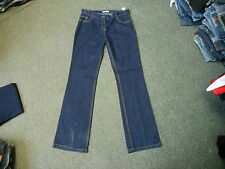 "Marks & Spencer Boot Leg Jeans Size 14 Leg 33"" Faded Dark Blue Ladies Jeans"