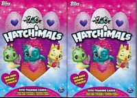 (2) 2018 Topps HATCHIMALS Trading Cards HANGER Box LOT = 1 Mini Album Per Box