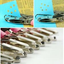 Circle Heart Star Pattern Hole Punch Pliers Paper Hand Puncher BS
