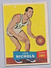 1957-58 Topps Basketball Jack Nichols Card # 9 Excellent Condition Set Break