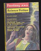 Nov 1972 Magazine of Fantasy & Science Fiction- Frederik Pohl, James Blish