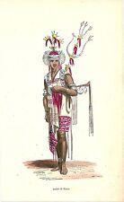 1852 COSTUME TIMOR lithography East Nusa Tenggara Kupang Dili Baucau Atambua