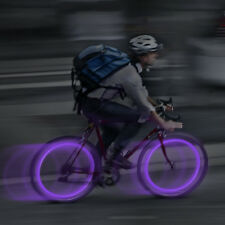 2 PURPLE SEE EM LED SPOKE WHEEL LIGHTS GREAT FOR NIGHT RIDES BIKING BIKE FUN