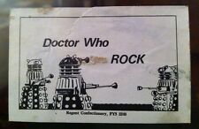 DR WHO BLACKPOOL EXHIBITION  1975-76  Rock Candy wrapper Label STICK DALEKS
