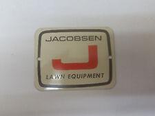 Jacobsen Name Plate Part # JA34263-4 NOS NLA