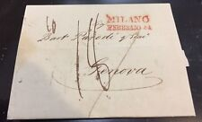 Italy Stampless Folded Letter, Milano to Genova - February 24,1836 182 years old