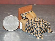 Dollhouse Miniature Bed Black Brown 1:48 Quarter in scale 1/4 K28 Dollys Gallery