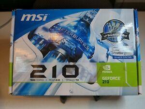 MSI NVIDIA GeForce 210 512MB GDDR2 SDRAM PCIe VGA DVI HDMI P/N: G57-V101094-X04