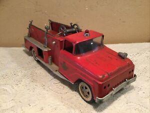 Vintage 1960 Tonka Pressed Steel Fire Truck-Pumper #5 For Restoration