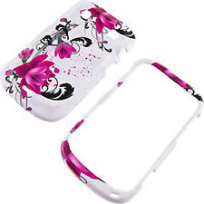 Blackberry Bold 9930 9900 Hard Protector Phone Case Cover White Purple Flowers