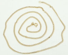 "Nice 18K Yellow Gold Curb Link 28"" Necklace A988"