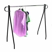 "Single Bar Black Clothing Rack 48""H X 60""L"