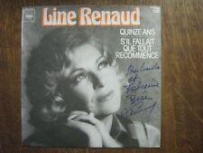 LINE RENAUD 45 TOURS FRANCE 15 ANS DEDICACE