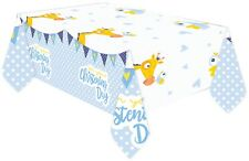 Baby Boys Christening Celebration Tableware Religious Church Party Tablecover