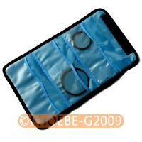 Filter Lens Case Bag w/ 6 Pockets for CPL ND UV Infrared Grey 52 55 58mm Filter