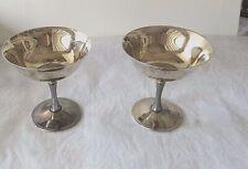 "Two Vintage Silver Plated Wine Cup/Goblet EC de Uberti Italy 4 1/2"""