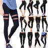 Women Yoga Leggings Lady Waist Fitness Pants Mesh Gym Athletic Workout Trousers