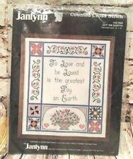 "New JANLYNN Cross Stitch Kit 14"" x 16"" Joy Wedding Bridal Shower Gift 50-658"