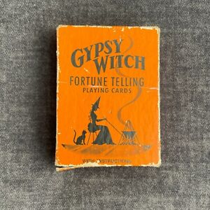 Vintage GYPSY WITCH Fortune Telling Playing Cards w/ Instructions & Original Box